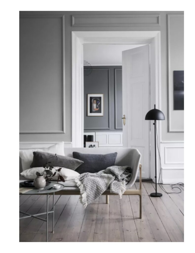 Mary Brown - One Day Design | Example of Grey Room for interior decorating